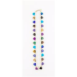 """Sterling Multi Stone 16"""" Necklace"""