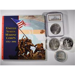 U.S. COMMEM LOT: 2005 MARINES COIN/STAMP SET;
