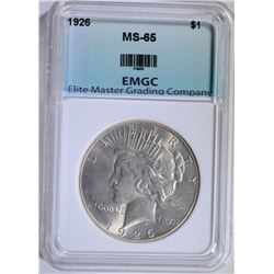 1926 PEACE DOLLAR EMGC GEM BU