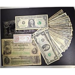 LOT: 1995 $1.00 FRN ERROR NOTE FOLD,