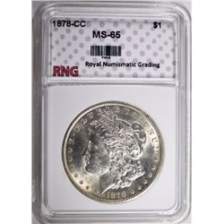 1878-CC MORGAN DOLLAR RNG GEM BU