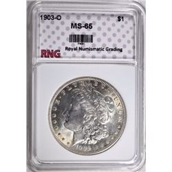 1903-O MORGAN DOLLAR RNG GEM BU
