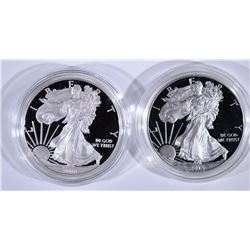 2008 & 2015 PROOF AMERICAN SILVER EAGLES