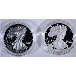 2012 & 2014 PROOF AMERICAN SILVER EAGLES