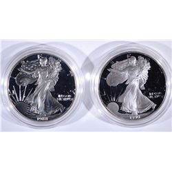 1988 & 1990 PROOF AMERICAN SILVER EAGLES
