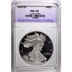 2002-W SILVER EAGLE, ENG PERFECT GEM PROOF