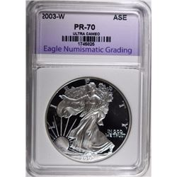 2003-W SILVER EAGLE, ENG PERFECT GEM PROOF