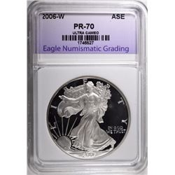 2006-W SILVER EAGLE, ENG PERFECT GEM PROOF
