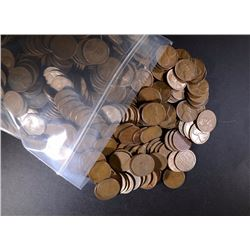 1000 Mixed Date S-Mint Wheat Cents.