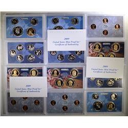 (3) 2009 United States Proof Sets.