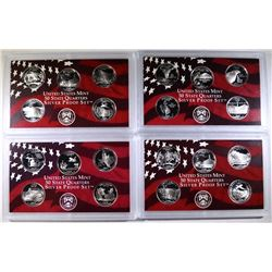U.S. SILVER QUARTER PROOF SETS; 2007,