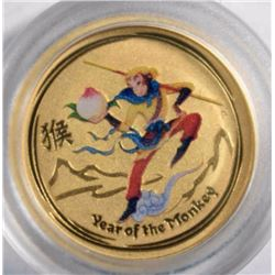 2016 1/20th oz GOLD AUSTRALIA YEAR OF THE MONKEY