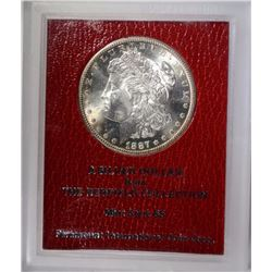 1887-S MORGAN DOLLAR REDFIELD COLLECTION GEM BU
