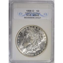 1898-O MORGAN DOLLAR SGS SUPERB GEM BU