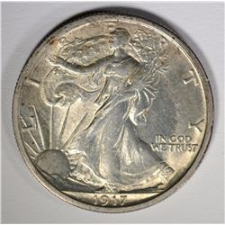 1917 WALKING LIBERTY HALF CH BU