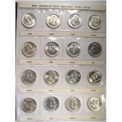 1848-63 COMPLETE CH BU/GEM FRANKLIN HALF SET