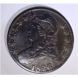 1826 CAPPED BUST HALF DOLLAR FINE  DARK