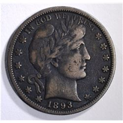 1893-O BARBER HALF DOLLAR F-VF