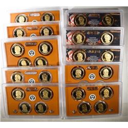 U.S. PRESIDENTIAL PROOF SETS No Boxes: