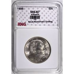 1936 ROBINSON HALF $ RNG SUPERB GEM
