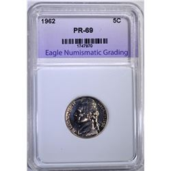 1962 JEFFERSON NICKEL ENG SUPERB GEM PLUS PROOF