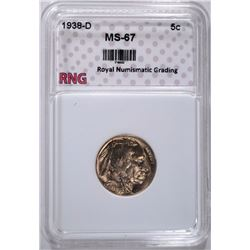 1938-D BUFFALO NICKEL RNG SUPERB GEM