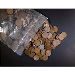 1000 Mixed Date Circulated Wheat Cents