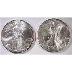2 - 1996 AMERICAN SILVER EAGLES CHOICE BU