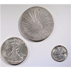 LOT OF 3: 1940-D MERCURY DIME CH BU;