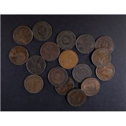 17-CENTS FROM VARIOUS CANADA PROVINCES