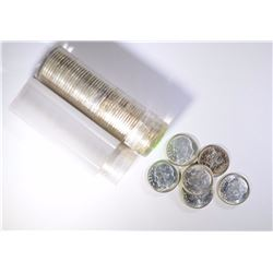 2-ROLLS OF SILVER ROOSEVELT DIMES 100-TOTAL COINS