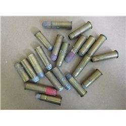 LOT OF WINCHESTER C.F. AMMO MIXED HEADSTAMPS ROUND BALL, SHOTSHELL, ETC