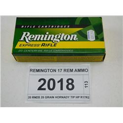 REMINGTON 17 REM AMMO
