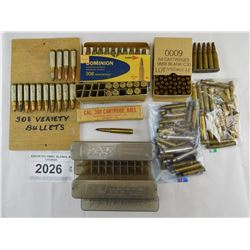 ASSORTED AMMO, BLANKS, & CASINGS