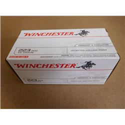 WINCHESTER 223 45 GR JACKETED HOLLOW POINT VARMIT & PREDATOR