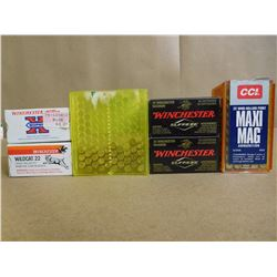 ASSORTED LOT OF 22 WIN MAG HIGH VELOCITY AND 22 LR