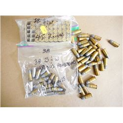 ASSORTED LOT OF 38 S & W