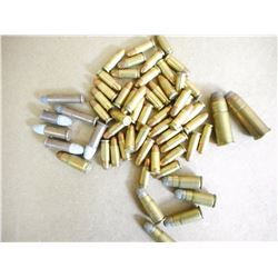 ASSORTED LOT OF AMMUNITION INCLUDING 25-6.35. .30 LUGER, 44-40