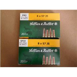 LELLIER & BELLOT 8 X 57 JS AND SPCE 196 GR  FMJ