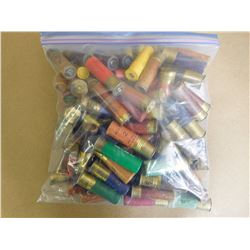 ASSORTED LOT OF SHOTGUN SHELLS VARIOUS SIZSES INCLUDING PAPER AND PLASTIC