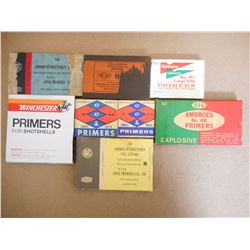 ASSORTED LOT OF LARGE RIFLE PRIMERS AND SHOTSHELLS