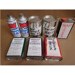 ASSORTED LOT OF POWDERS INCLUDING TRAP POWDER  700 SX AND WINCHESTER BALL POWDER 571 FOR SHOT SHELL