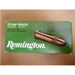 REMINGTON 22 HIGH VELOCITY GOLDEN BULLET HOLLOW POINT RIMFIRE
