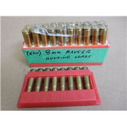 8MM MAUSER HUNTING LOADS AND .32 WIN SPL  IN PLASTIC HOLDER
