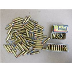 ASSORTED LOT OF .30 CAL AND 22 CAL AMMUNITION
