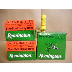 REMINGTON SHUR SHOT HEAVY DOVE 20 GA X 2 3/4 SHOT GUN SHELLS