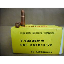 NORINCO 7.62 X 25 MM CARTRIDGES