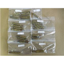 ASSORTED LOT OF RIFLE AMMO INCL. 7MM REM MAG, 8.3 MM MAG, 300 SAVAGE, 9MM, 300 WIN MAG AND 284 WIN