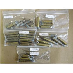 ASSORTED LOT OF RIFLE AMMO INCL 40-70, 50-70, 43 MAUSER40-60, 32 WIN SPL RIFLE AND MIXED RF