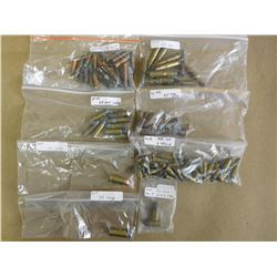 ASSORTED LOT OF AMMO INCL 25-20, 35 RF, 38 LONG,38 S&W, 40 S&W, RF, 5.45X18 MPT AND 2 PIN FIRE MK9 E